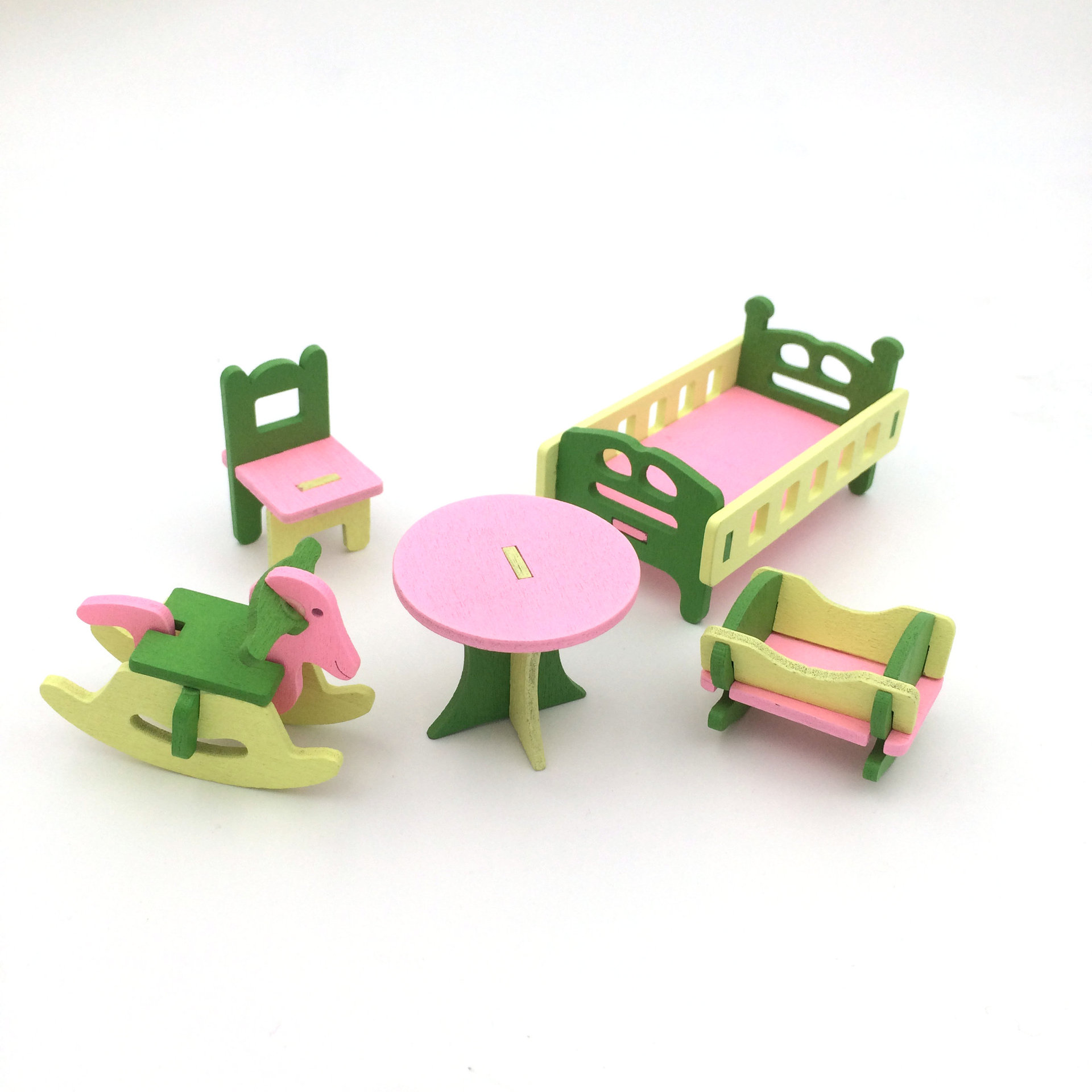 mini furniture sets. Wooden Mini Furniture Set Kids Play Toy Cabinet Desk Chair Bed Dollhouse Bedroom Furnitures Playing House Game Toy-in Kitchen Toys From \u0026 Hobbies On Sets I