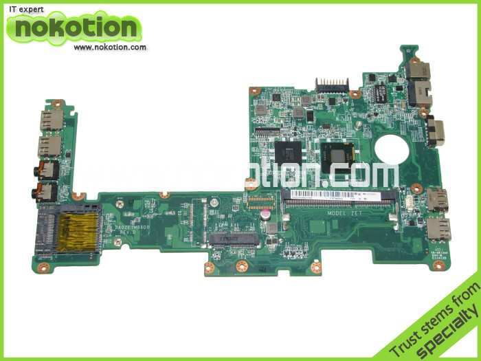 NOKOTION Laptop motherboard for Acer Asipre One D270 ZE7 DA0ZE7MB6D0 intel N2600 CPU GMA 3600 DDR3 Main Board free shipping mb rn60p 001 mbrn60p001 main board for acer aspire 7739 7739z laptop motherboard hm55 ddr3 gma hd