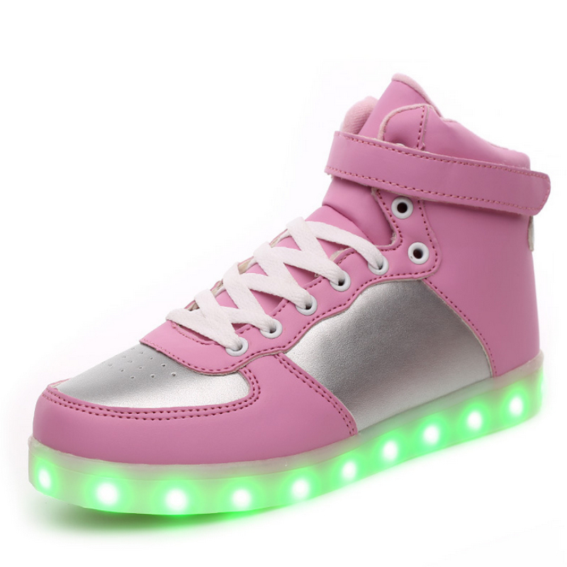 BBX Fashion LED Kids Sneakers Children's USB Charging Luminous Lighted Sneakers Boy/Girls Colorful lights Children Shoes new fashion children usb charging led light shoes kids sneakers fashion luminous lighted boy girl shoes chaussure led enfant