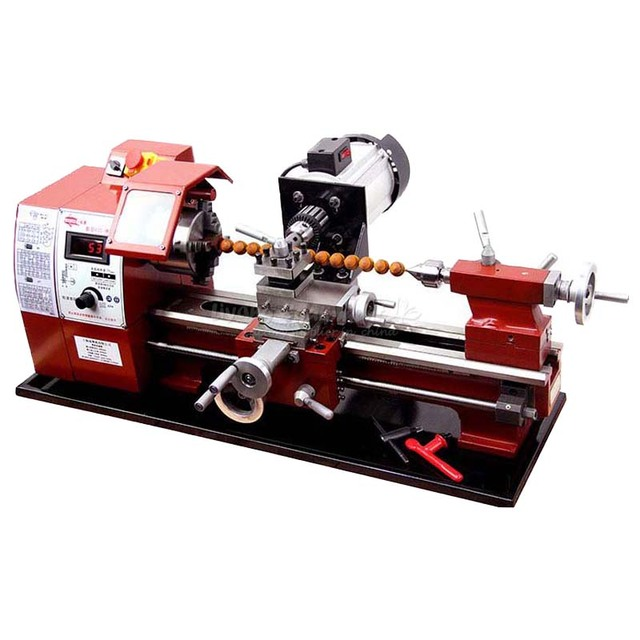 Mini Woodworking Lathe Machine Wooden Beads Processing Hand String