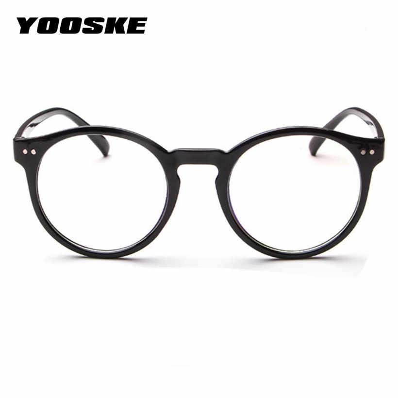5e3106cc4e0 YOOSKE Retro Glasses Frame Women Men Eyeglass Frames Female Male  Transparent Lens Eye Glasses Women s Glasses