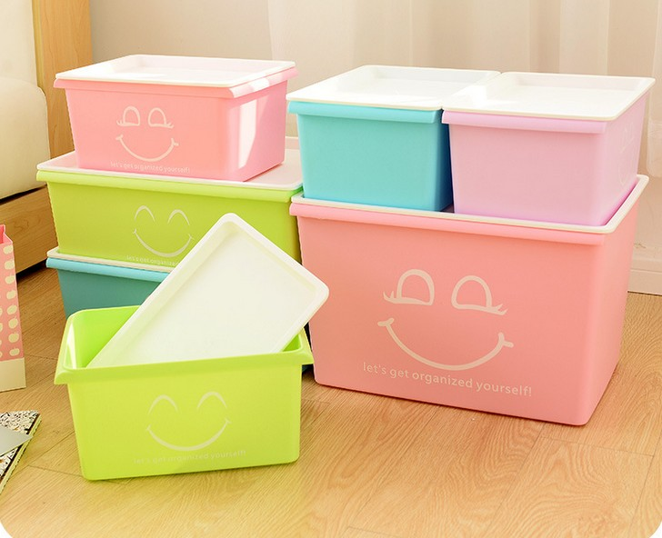 boxes:  1PC Home Storage Boxes For Underwear Socks Ties Bra Closet Divider Plastic Storage Box With Cover Organizer Container LF 015 - Martin's & Co