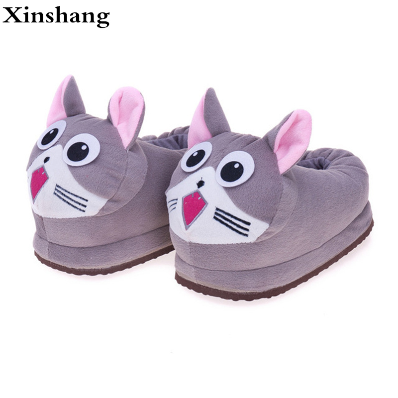 Indoor Soft Emoji Slippers Cartoon Plush Slipper Home With The Full Expression Women/ Men Slippers Winter House Shoes One Pair plush slipper expression men and women slippers winter house shoes lovely warm indoor slippers soft plush shoe zapatos de mujers