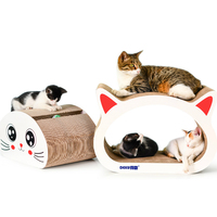 Cat Scratch Board with Bell Toy Thick Corrugated Paper Cardboard Cat Scratcher Cat Furniture Cats Scratching Posts Kitten House