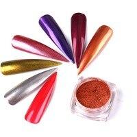 12 Pz/set Bling Specchio Chiodo di Scintillio della Polvere Splendida Arte Del Chiodo Paillettes Chrome Pigmento Glitters