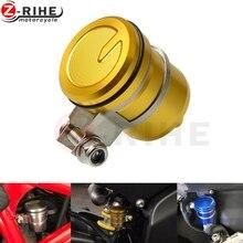 цена на Motorcycle Brake Reservoir Clutch Tank Oil Fluid Cup For Suzuki SV650 SV 650 K3 K4 K5 K6 K7 K8 K9 GSXR 600 750 1000 GSX1400
