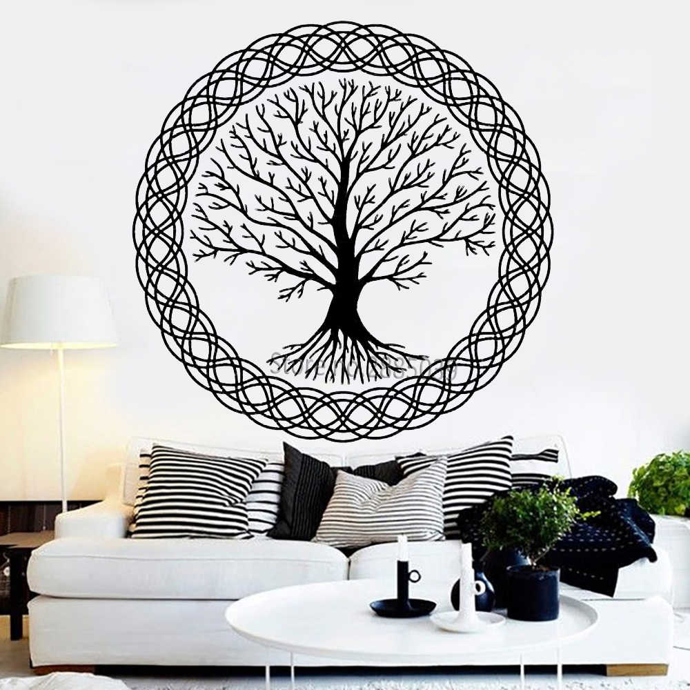 d1b25c6230 Detail Feedback Questions about Zen Meditation Vinyl Wall Decal Tree of  Life Art Family Decor Nature Murals Wall Stickers Unique Large Tree Design  Decals ...