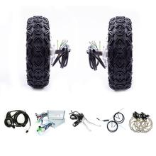 Hub Motor 24v 36v 350w 500w 800w 10 Electric Buggy Robot Trolly Double Drive Dual Wheel Kit Scooter DIY