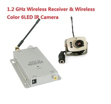 1.2 GHz Wireless Receiver & Wireless Color 6LED IR Nightvision Mini Camera Wireless CCTV Camera Kit