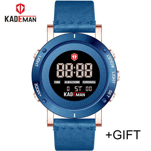 Cheap KADEMAN Army Military Luxury Brand Men's Watches Men Sports Watch Quartz Digital Clock Man Leather Wrist Watch Relogio Masculino