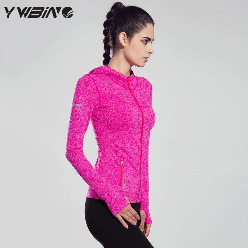 Dry Quick Gym Yoga Jackets High Elastic Tights Women s Fitness Jackets Running Long Sleeve Zipper