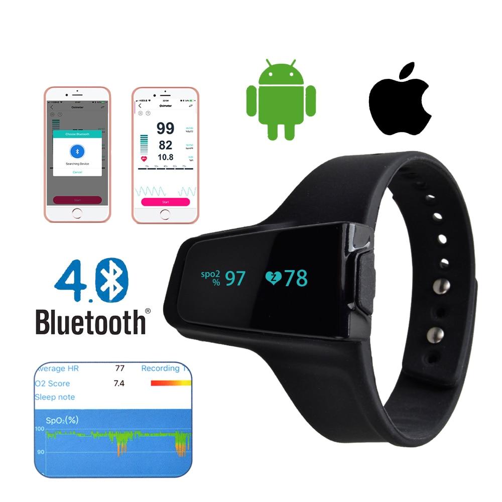 ENVN Pulse Oximeter Watch Bluetooth Smart Wrist Portable OLED Sleep apnea Monitor Insomnia Heart Beat Finger Pulsioximetro