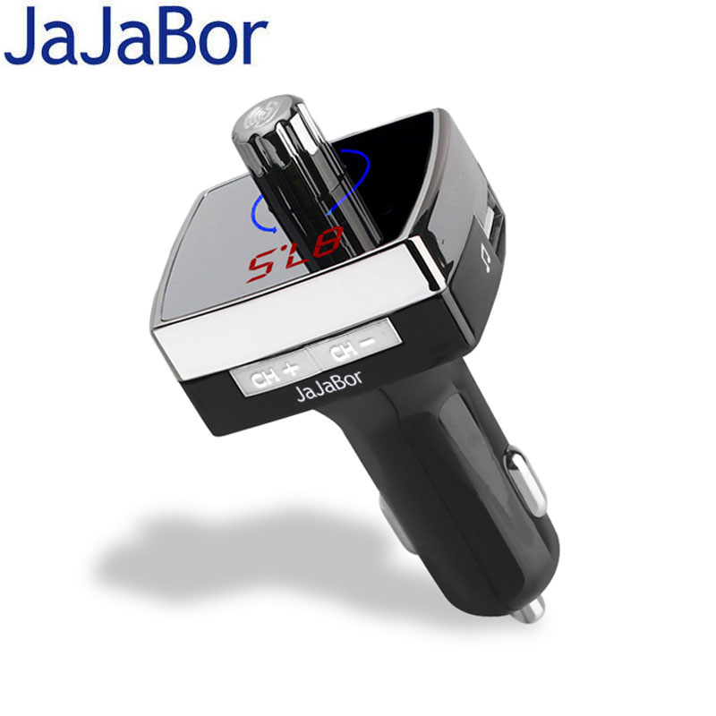 JaJaBor Bluetooth Hands Free Car Kit Car MP3 Player FM Modulator Transmitter Bluetooth 4.2 Dual USB Charger Noise reduction usb
