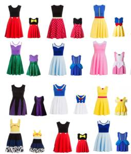 Costume Princess-Dress Cosplay Matching Family Polka-Dots Mommy And Minnie Adult-Size