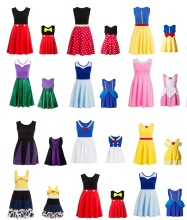 Summer Matching Mommy and Toddler Girl Novelty Princess Dresses