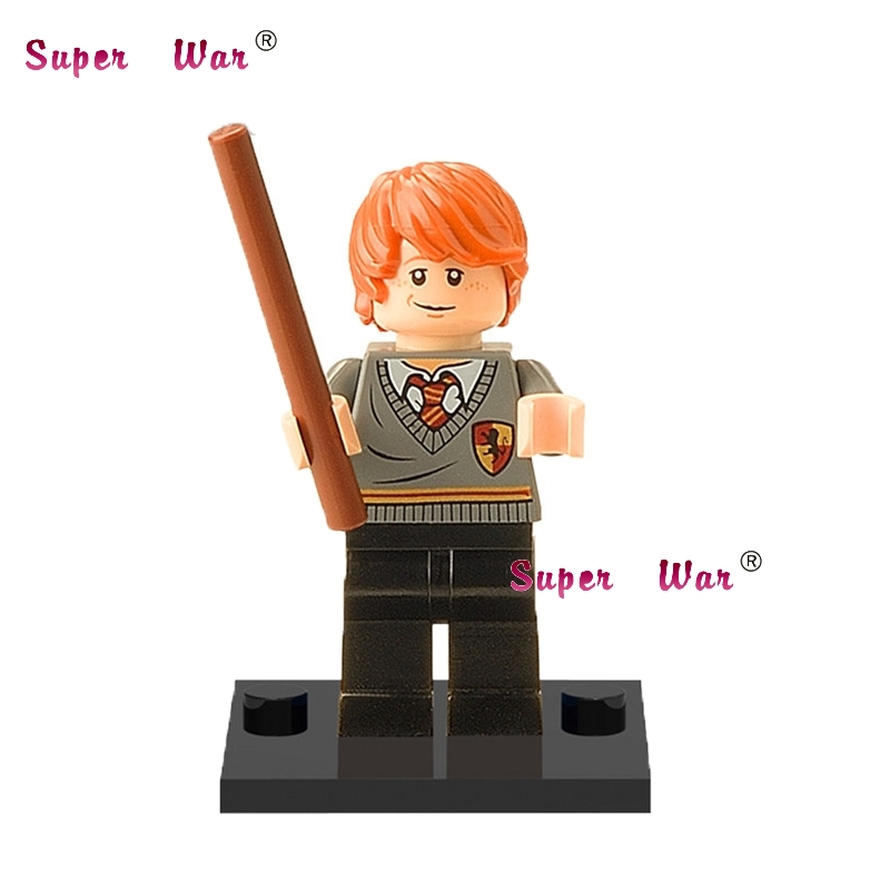 Single Sale star wars superhero Harry Potter Ron Weasley building blocks action sets model bricks toys