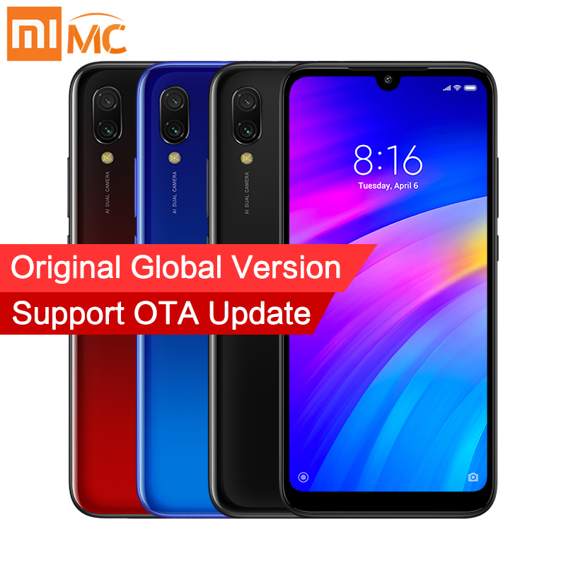 "Global Version Xiaomi Redmi 7 3GB 32GB Mobile Phone Snapdragon 632 Octa Core 12MP AI Dual Camera 6.26"" HD Screen 4000mAh CE FCC"