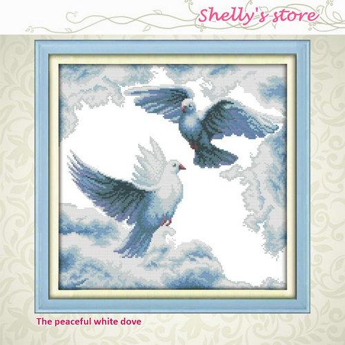 ⑧Pacífico paloma blanca patrón de pintura contado o estampado Punto ...
