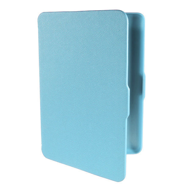 2 Packs Magnetic PU Leather Cover Case Slim For Amazon Kindle Paperwhite (Cross Pattern, Blue)