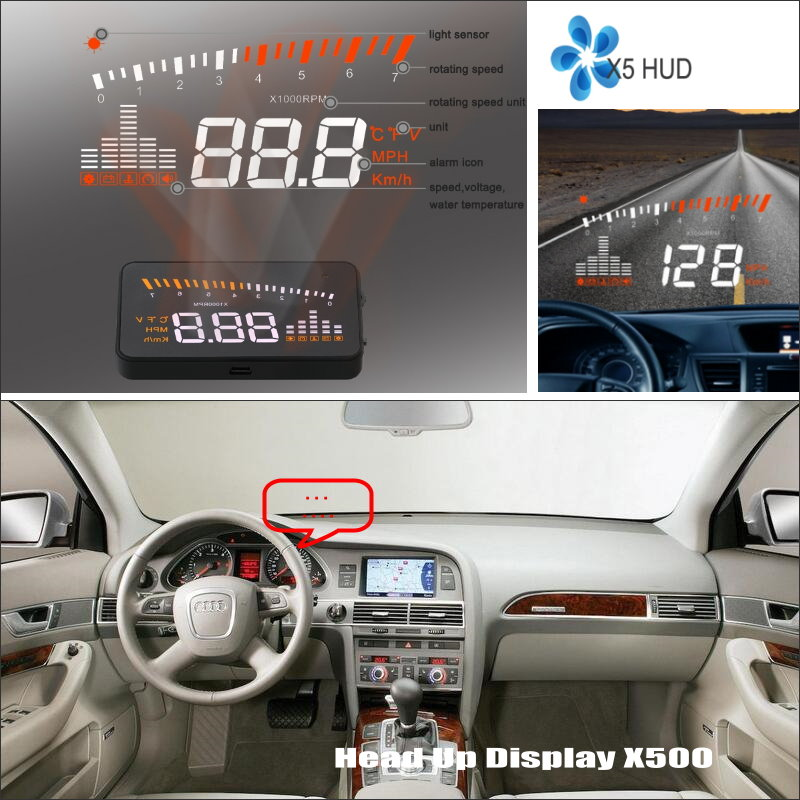 все цены на For Audi A6 C6 RS6 2005~2009 - HUD Head Up Display - Safe Driving Screen Projector vehicle Refkecting Windshield