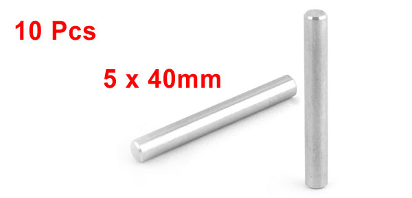 50 pcs A1 Stainless Steel M8 x 28mm Solid Dowel Pins DIN 7 Type A