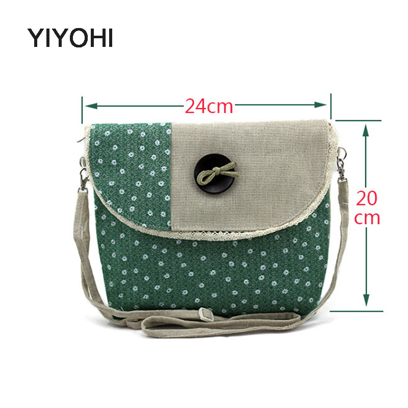 YIYOHI New High Quality Canvas Women Fashion Small Single Shoulder Bag Girls Star Messenger Crossbody Bag Mobile Phone Bag