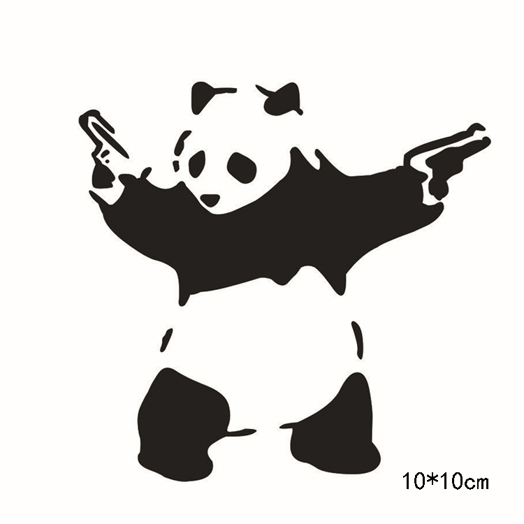 Newly Chinese Style Reflective Cool Panda With Gun Car Vinyl - Cool vinyl decals