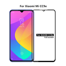 1PCS For Xiaomi Mi CC9e Glass 2.5D Full Glue Cover Screen Protector Protective Film for