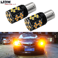 IJDM Canbus Error Free 1156 LED No Hyper Flash 21W Amber Yellow P21W BA15S LED Replacement