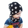 1Set New Spring Crochet Baby Hat Girl Boy Cap Cotton Scarf Beanie Star Infant Knitted Toddlers Children Hats Scarves