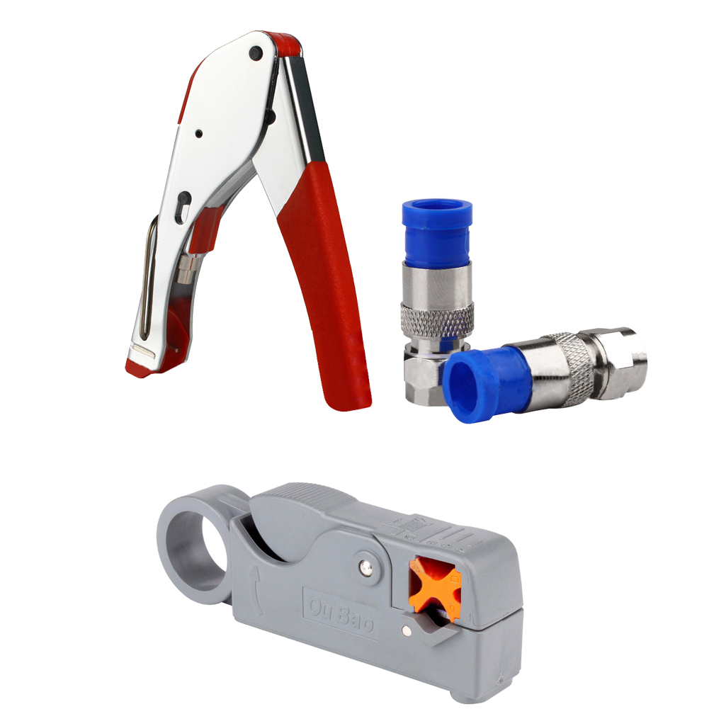 RG6/RG59 Compression F Connector Tool Cable wire Stripper pro skit cp 505 universal strip tool rg 59 6 11 7 cable stripper wire stripper