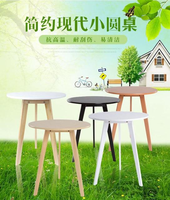 Simple trabajo de madera mesa de negociación bajo pequeña mesa de ...
