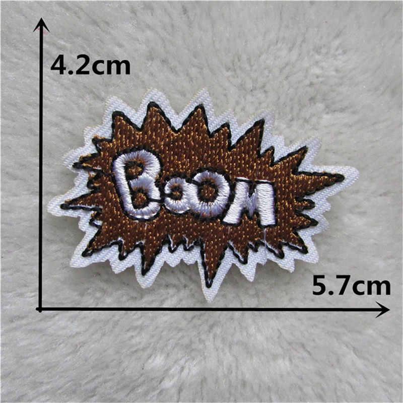 בגדי Applique מכתב כוכב BAM פסי קריקטורה רקמת ברזל על תיקוני DIY כובע מעיל שמלת מכנסיים אביזרי בד מדבקה
