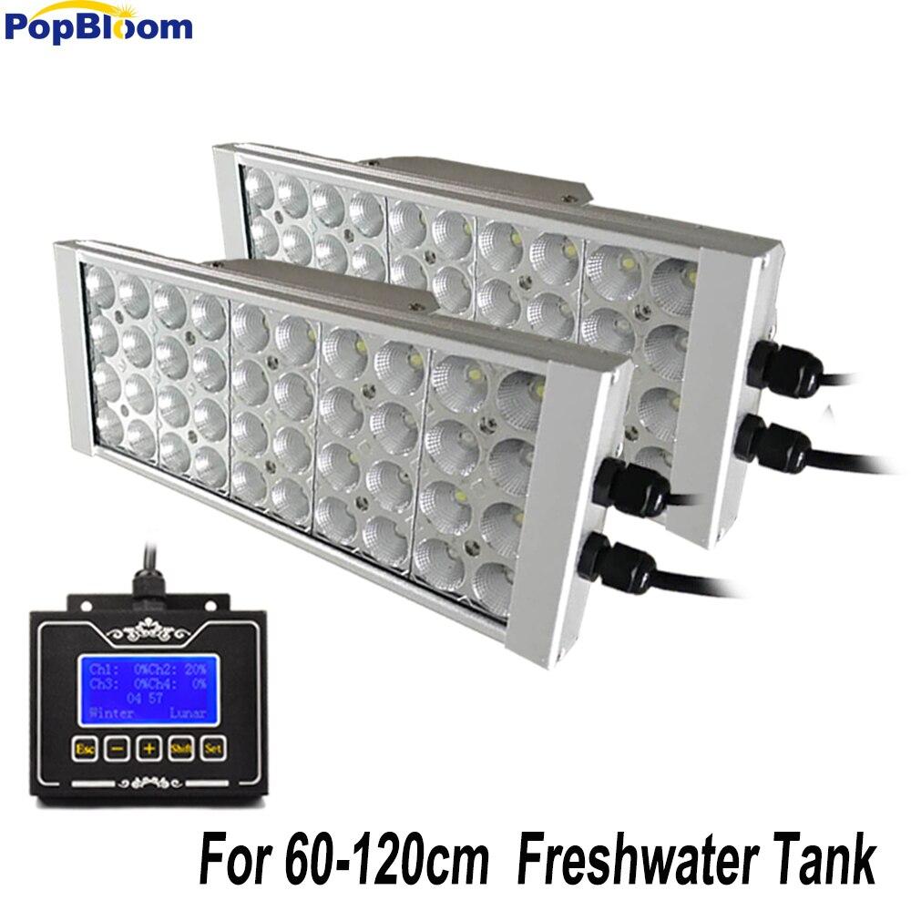Programmable contrôleur LED Aquarium Éclairage dimmable minuterie D'eau Douce aquarios poissons bac planté LED lumière lever du soleil