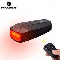 ROCKBROS Bike Light Anti Theft USB Akumulator Światła Pilot Diodowa Ogon Wodoodporny Latarnia Ostrzeżenie Alarm Róg K6008