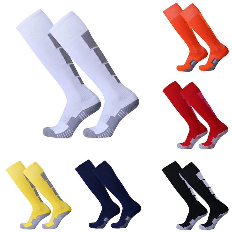 Home Stockings Comfortable Relief Socks Football Soccer Plain Long Socks Cotton Over Knee High Sock Sport Men Leg Compression Stretc