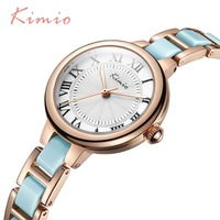 Famous Brand KIMIO Luxury Watch Women Small Quartz Watch Heart Love Band Fashion Ladies Bracelet Watches