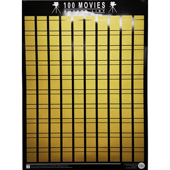 Movie Scratch Off Poster 100 MOVIES 2