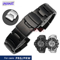 watch belt replacement for casio PRG 260/550/250/500 PRW 3500/2500/5100 steel bracelet black 18mm watch band gift for bf