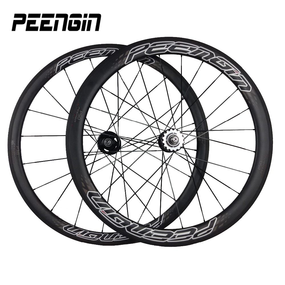 South America countries Agents violent reviews carbon bike wheel set 38mm Front 50mm Rear Clincher Carbon Track Bike Fixed Gear image