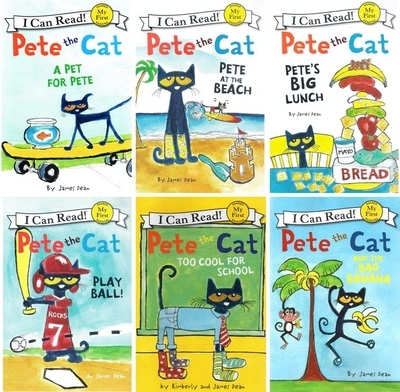 not cloth book 6pcs/set original English picture story pe te the cat can read