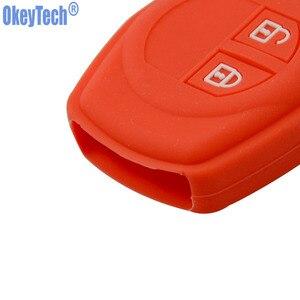 Image 3 - OkeyTech Silicone Rubber 2 Button Car Remote Key Fob Case Protect Cover For Suzuki SX4 Swift Vitara Key Shell Holder Accessories