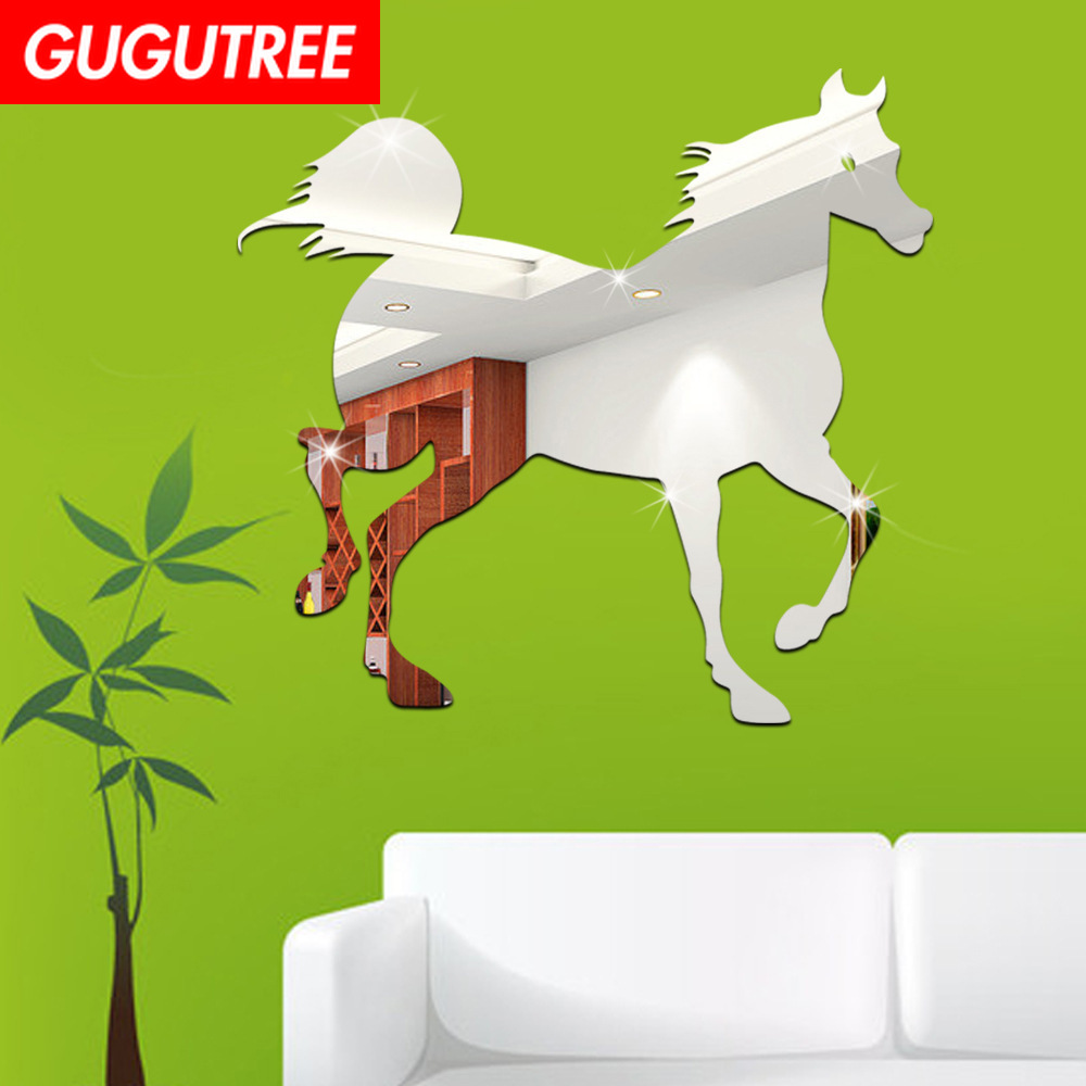 Decorate 3D horse animal star art wall mirror sticker decoration Decals mural painting Removable Decor Wallpaper LF-1371