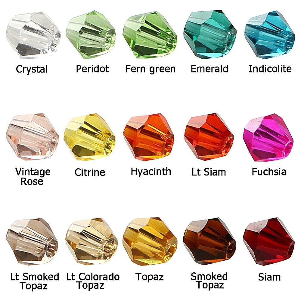 Mix color bicone