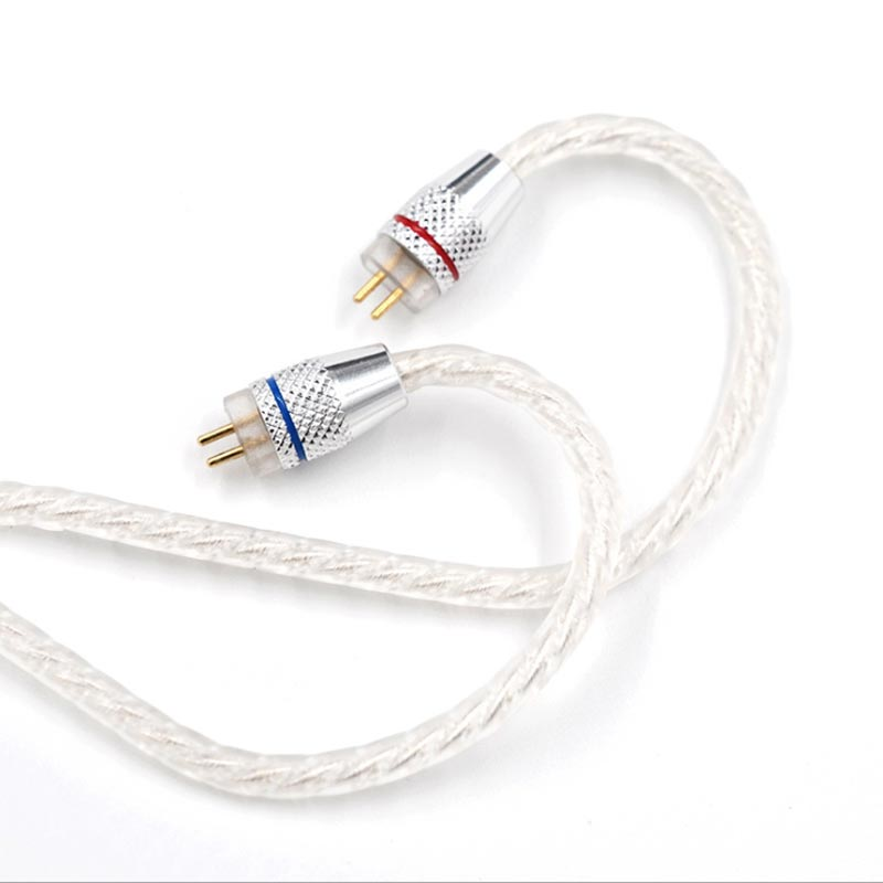 CCA Silver Plated Upgrade Cable 3.5 mm Audio 4 Core 2 Pin Original Earphone DIY For C10/c16/c04/ KZ ZS3 ZS6 ZSA