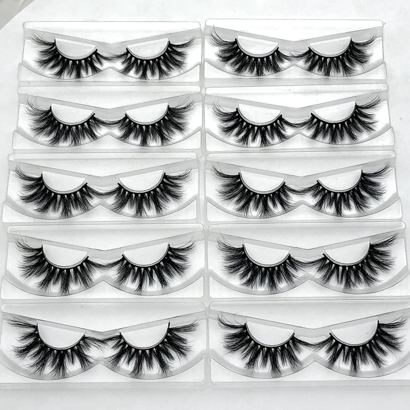 Mikiwi D384 Wholesale 3D Mink Eyelashes Popular Long Thick Mink Lashes Custom Volumn Individual Dramatic 20mm Length Lashes