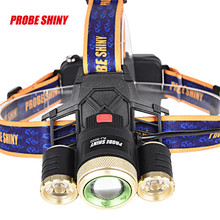 High Quality Zoom 15000LM 3X XM-L T6 LED Rechargeable 18650 Headlamp Headlight Light Torch