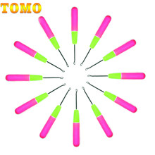 Wolesale Price 1 Piece 15Cm Pink & Lemon Color Plastic Knitting Crochet Hook Needles For Jumbo Braiding Hair And Crochet Braids(China)
