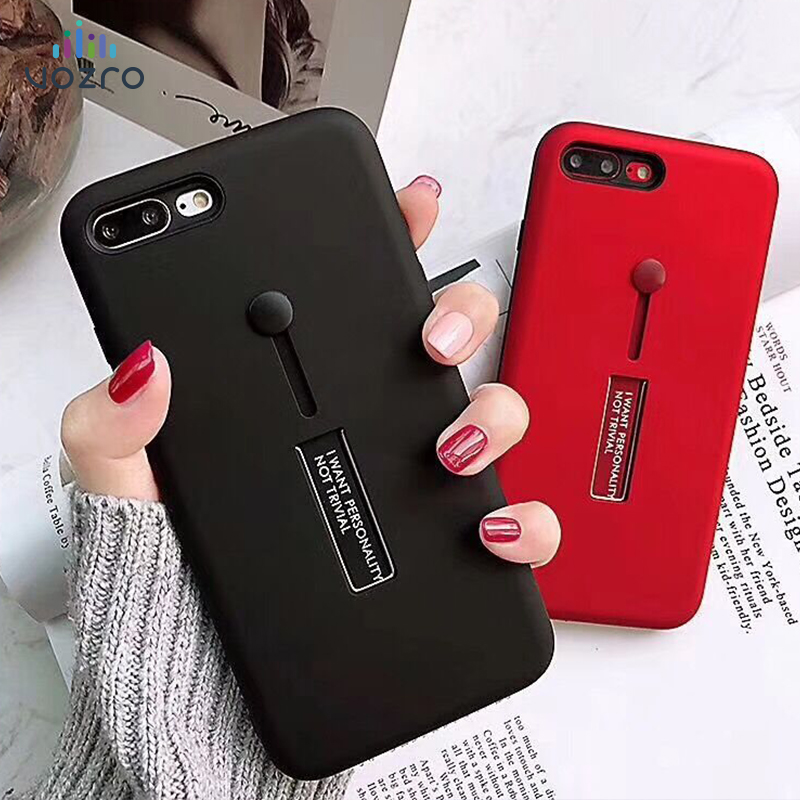 [Invisible bracket] VOZRO Phone case For iPhone 6 6s 7 8 Plus X XR XS Max Bumper Telephone covers Accessories bag