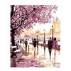 Diy Cherry Blossoms Road Oil Painting By Numbers Art Hand Painting Picture Home Decor Acrylic Paint